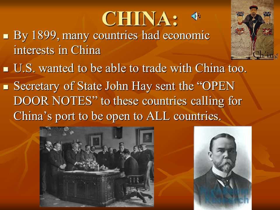 CHINA: By 1899, many countries had economic interests in China