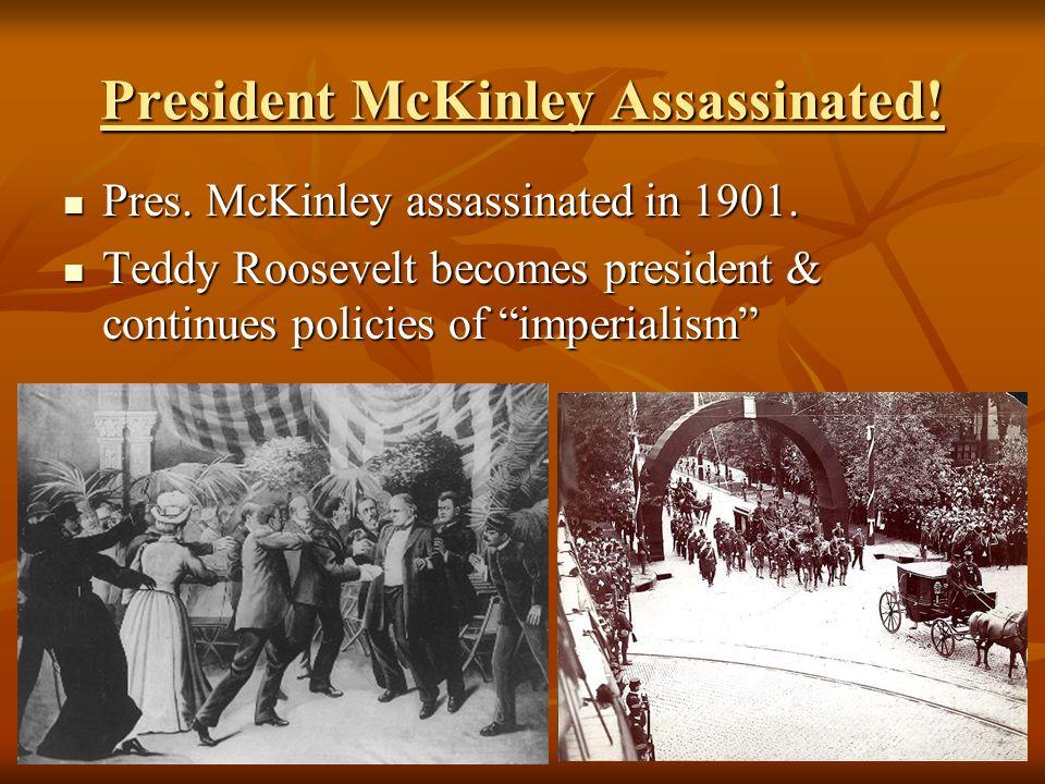 President McKinley Assassinated!