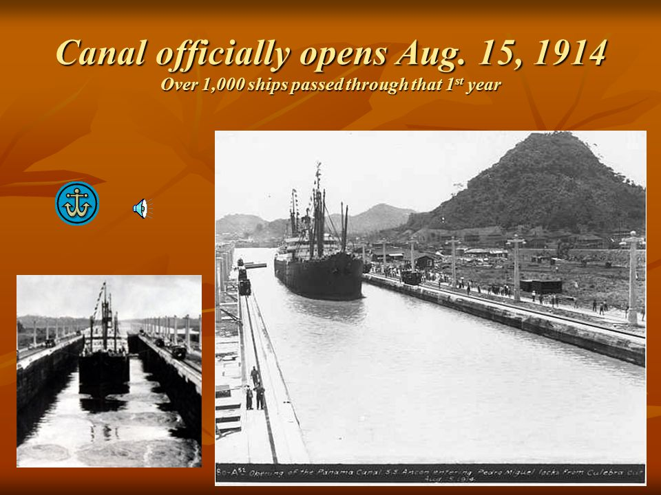 Canal officially opens Aug