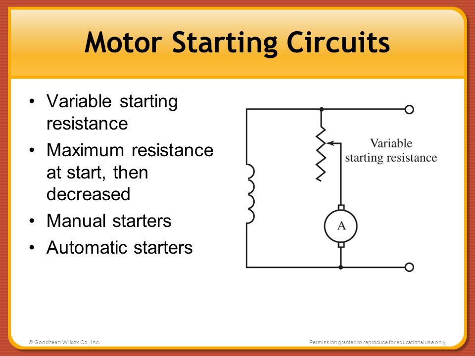 Motor Starting Circuits
