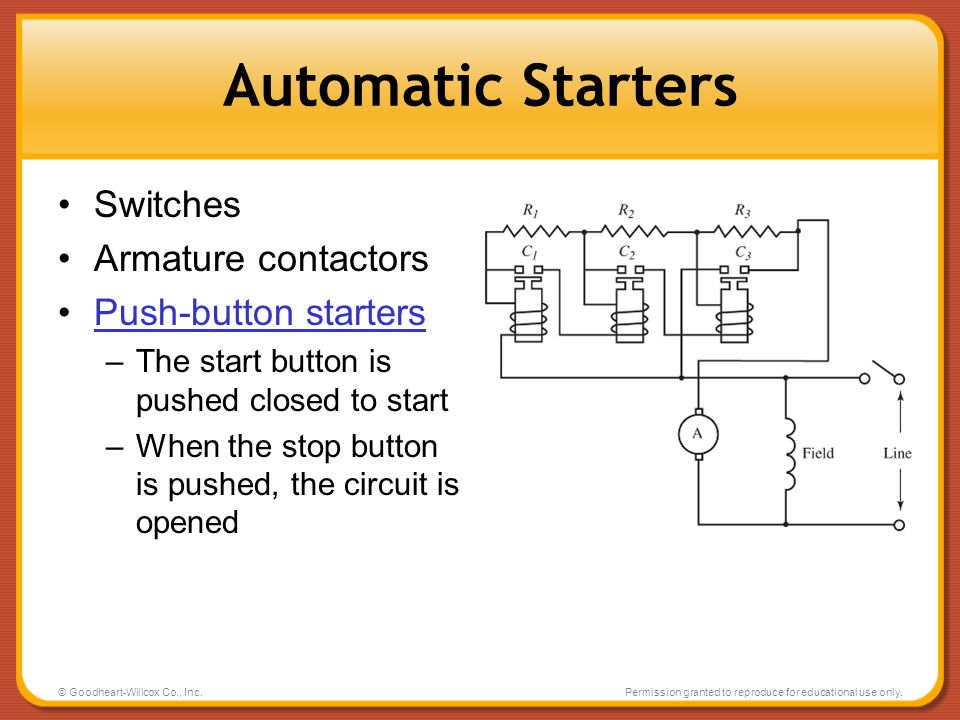 Automatic Starters Switches Armature contactors Push-button starters