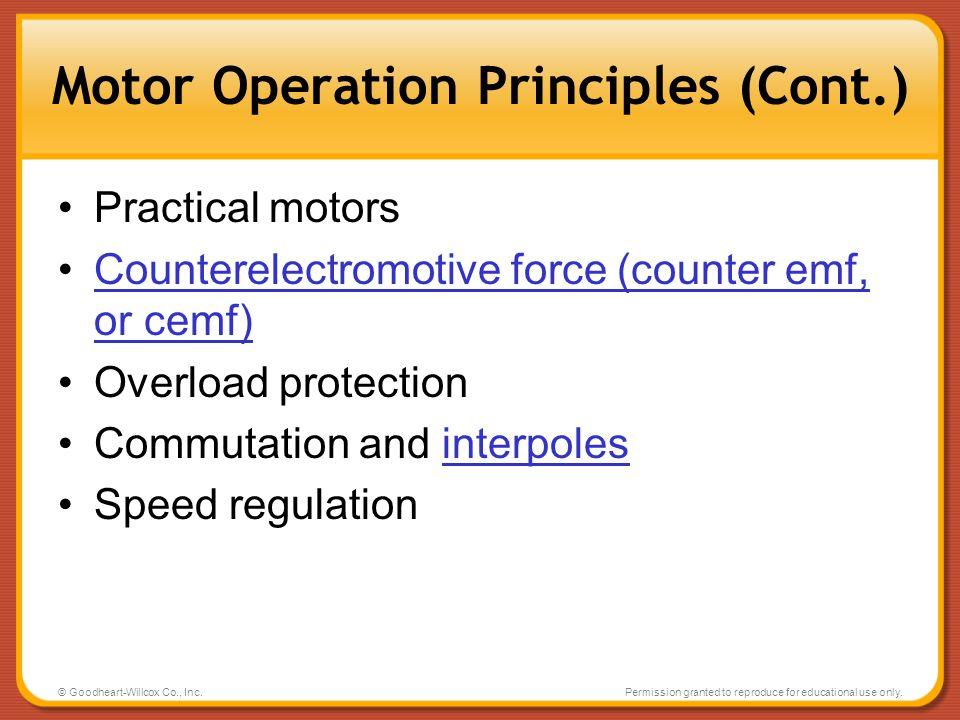 Motor Operation Principles (Cont.)
