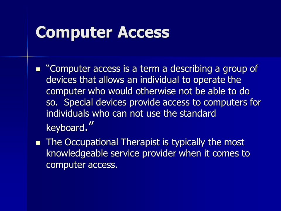Computer Access