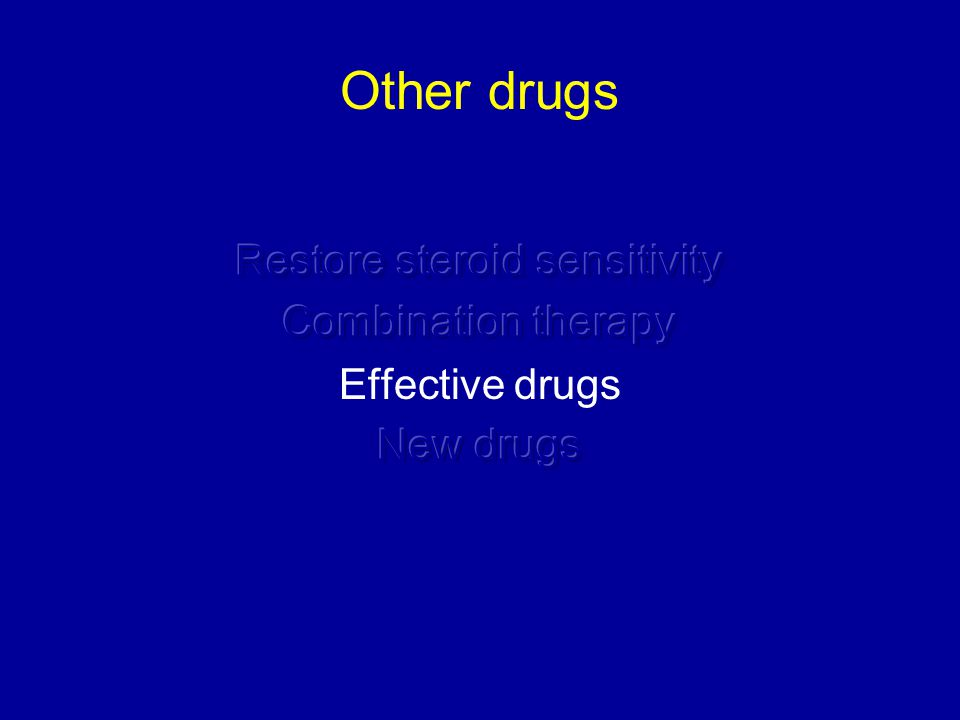 Restore steroid sensitivity