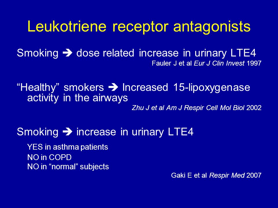 Leukotriene receptor antagonists