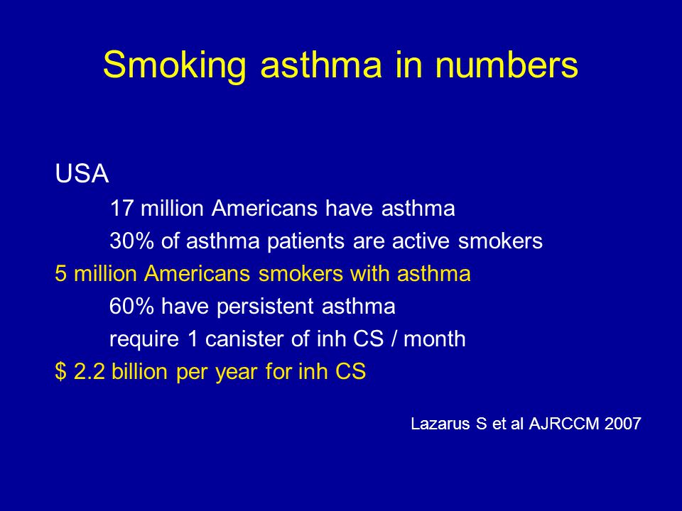Smoking asthma in numbers