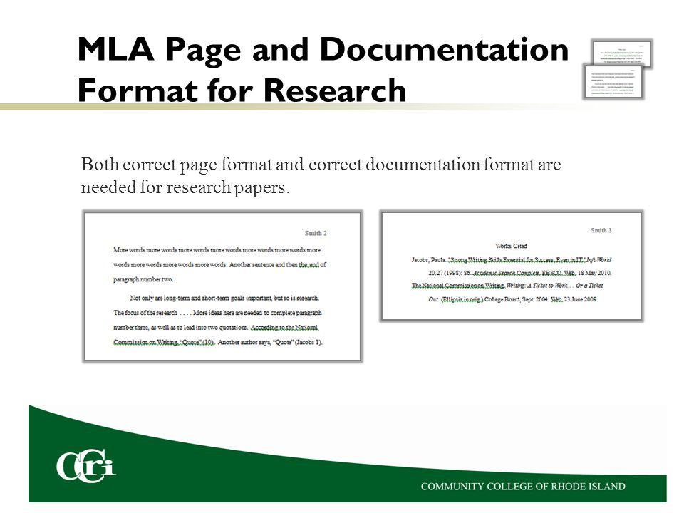 MLA Page and Documentation Format for Research