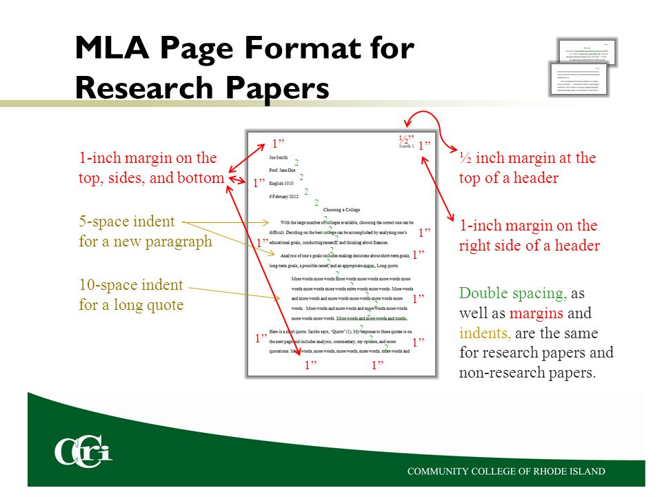 mla research papers format