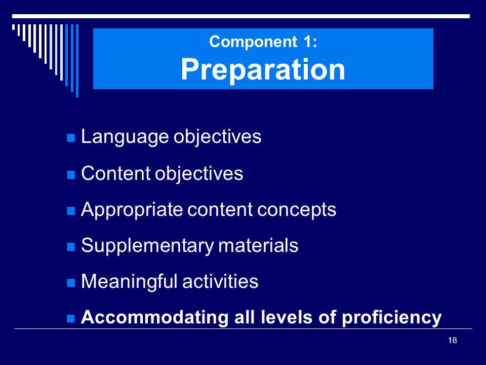 Component 1: Preparation