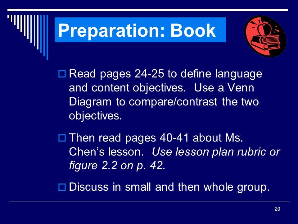 SIOP Workshop 2008 Preparation: Book.