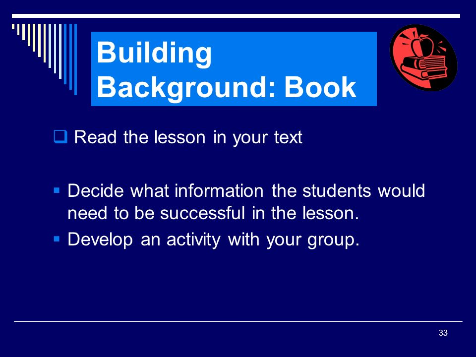 Building Background: Book