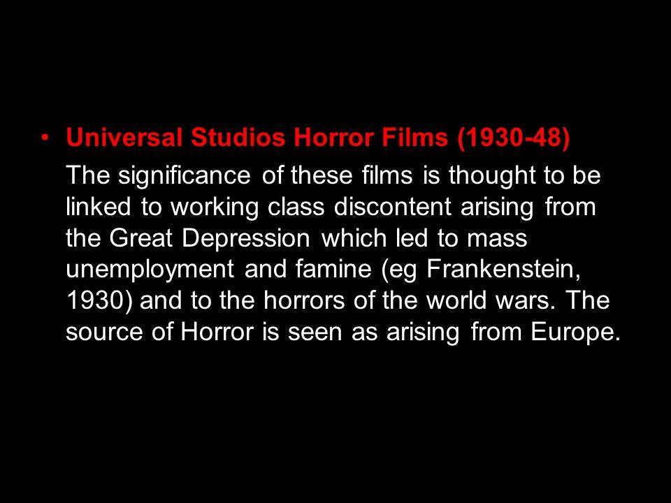 Universal Studios Horror Films (1930-48)