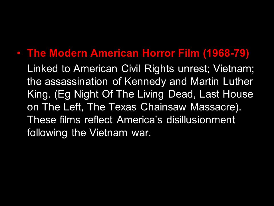 The Modern American Horror Film ( )