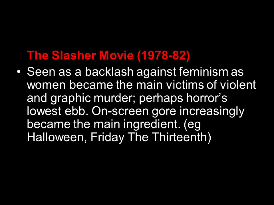 The Slasher Movie ( )