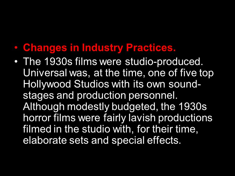 Changes in Industry Practices.