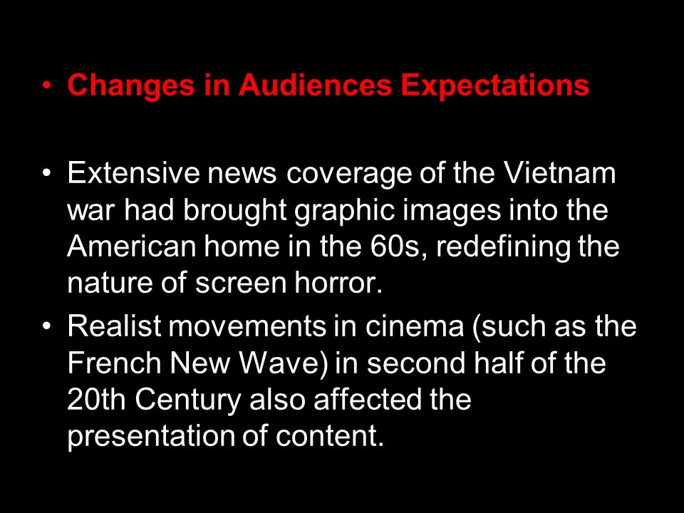 Changes in Audiences Expectations