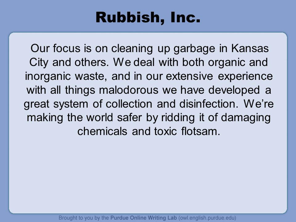 Rubbish, Inc.
