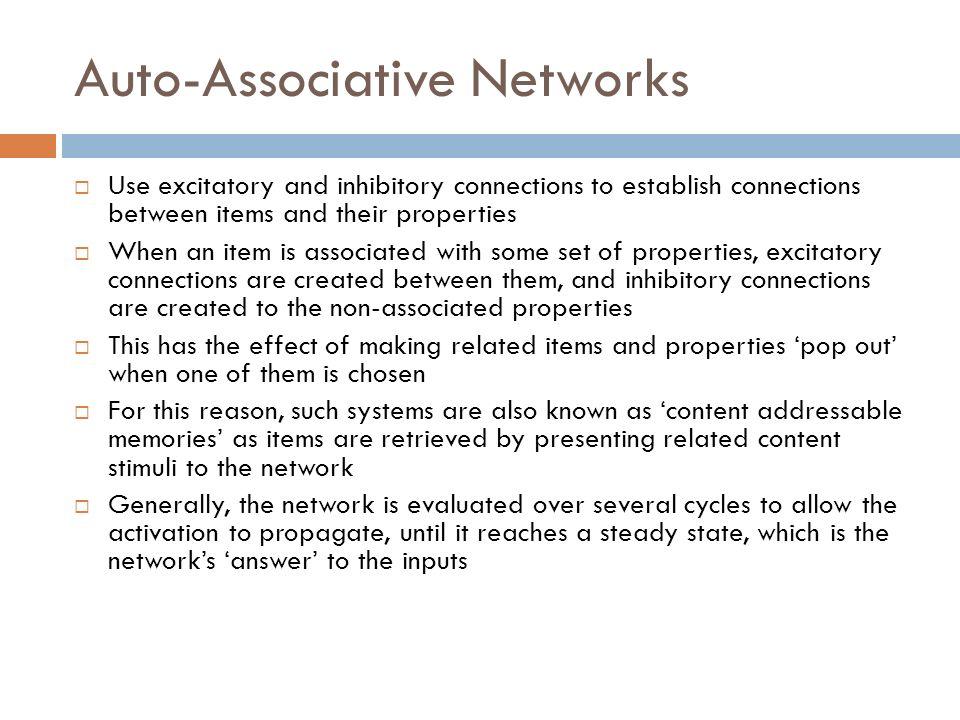 Auto-Associative Networks