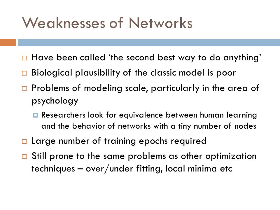 Weaknesses of Networks