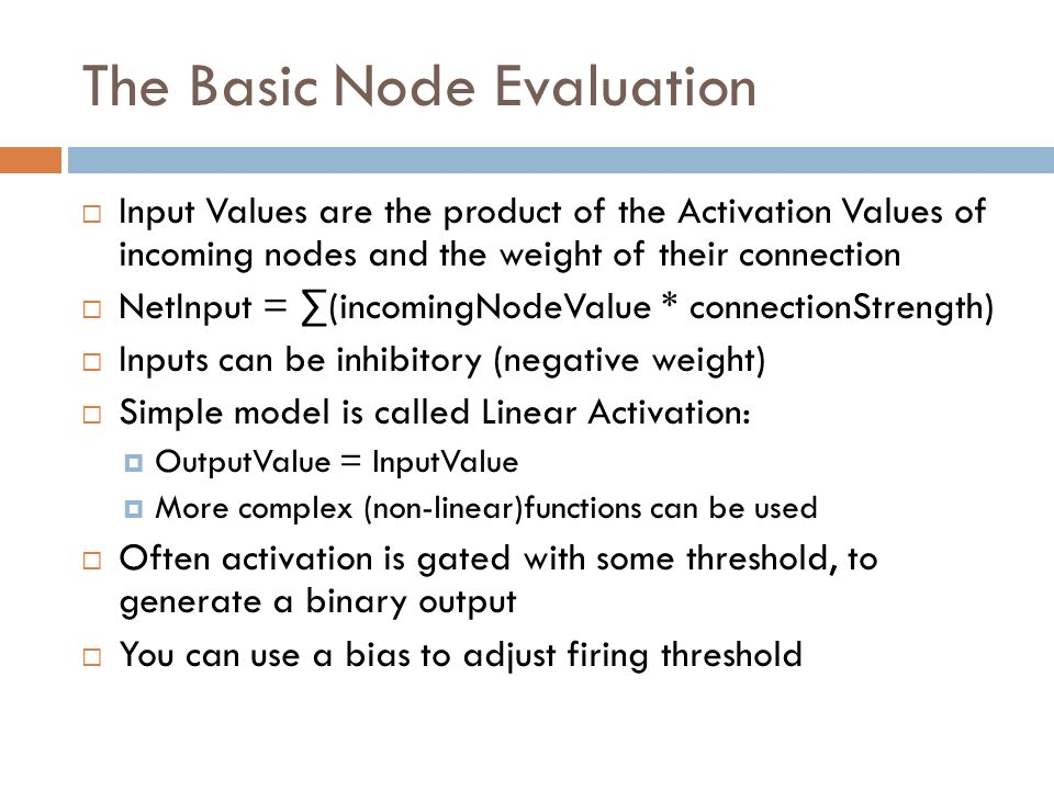 The Basic Node Evaluation