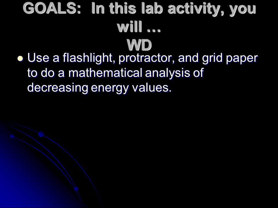 GOALS: In this lab activity, you will … WD