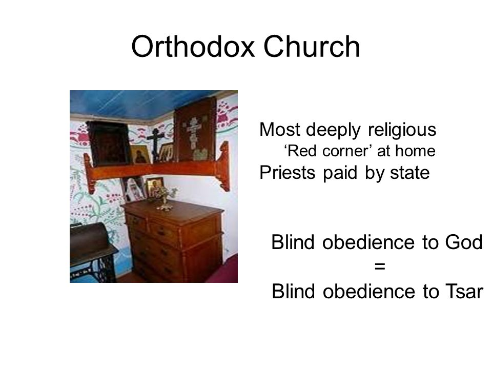 Blind obedience to Tsar