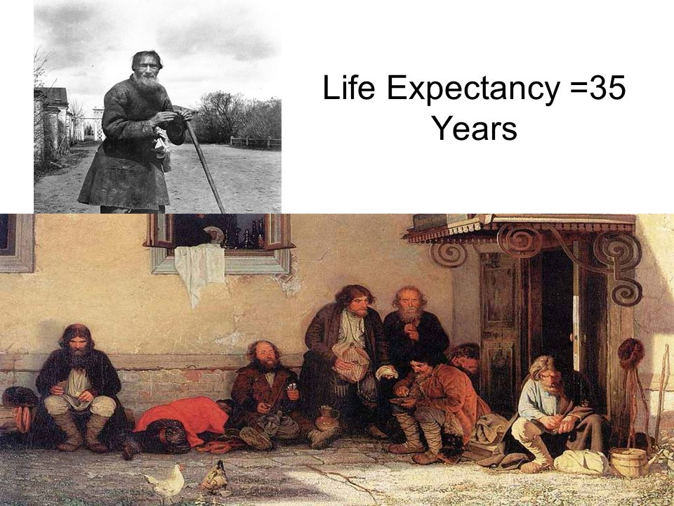 Life Expectancy =35 Years