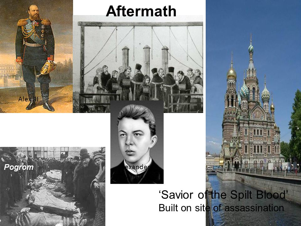 Aftermath 'Savior of the Spilt Blood' Built on site of assassination