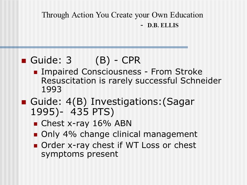 Guide: 4(B) Investigations:(Sagar 1995)- 435 PTS)