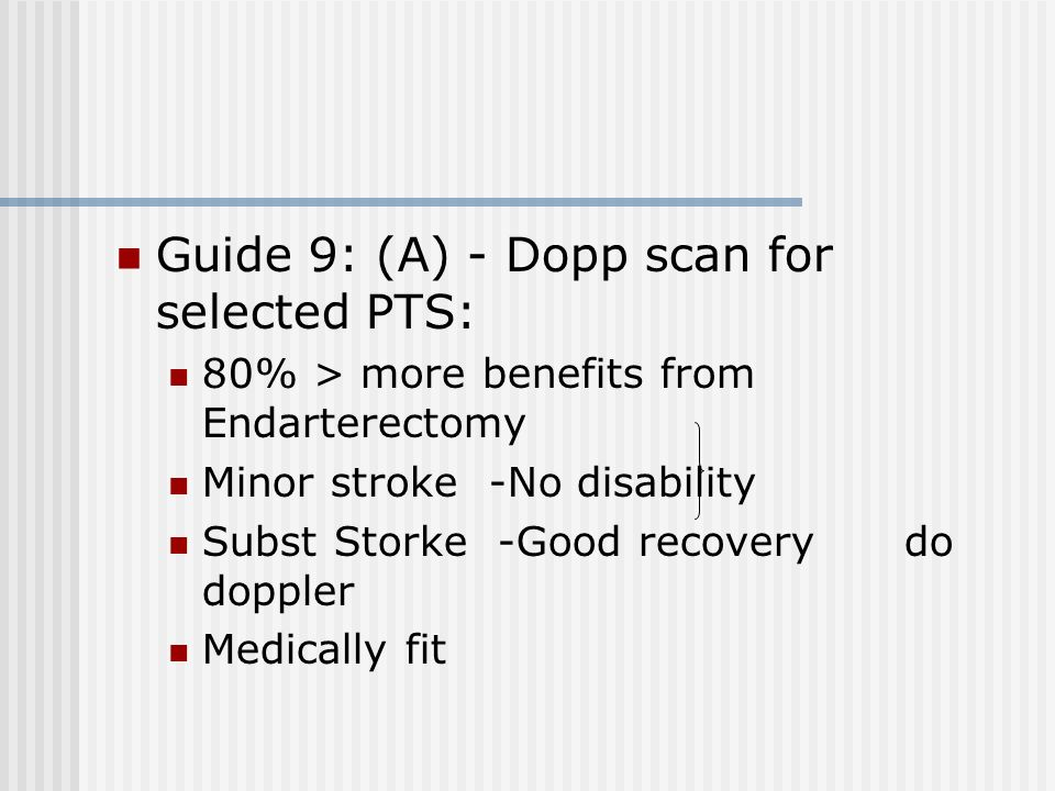 Guide 9: (A) - Dopp scan for selected PTS: