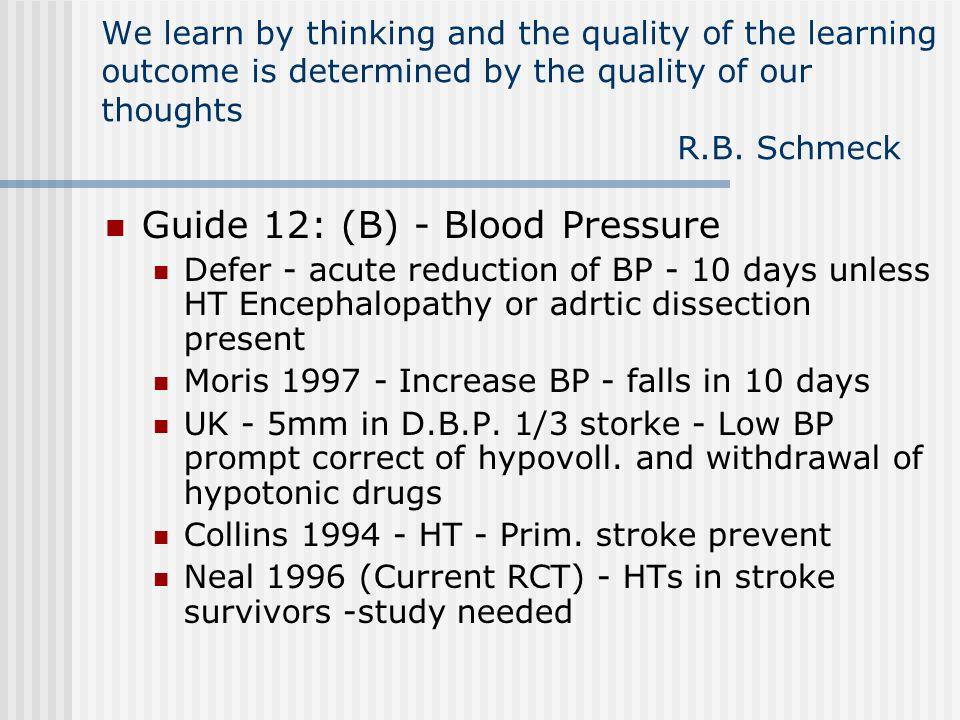 Guide 12: (B) - Blood Pressure