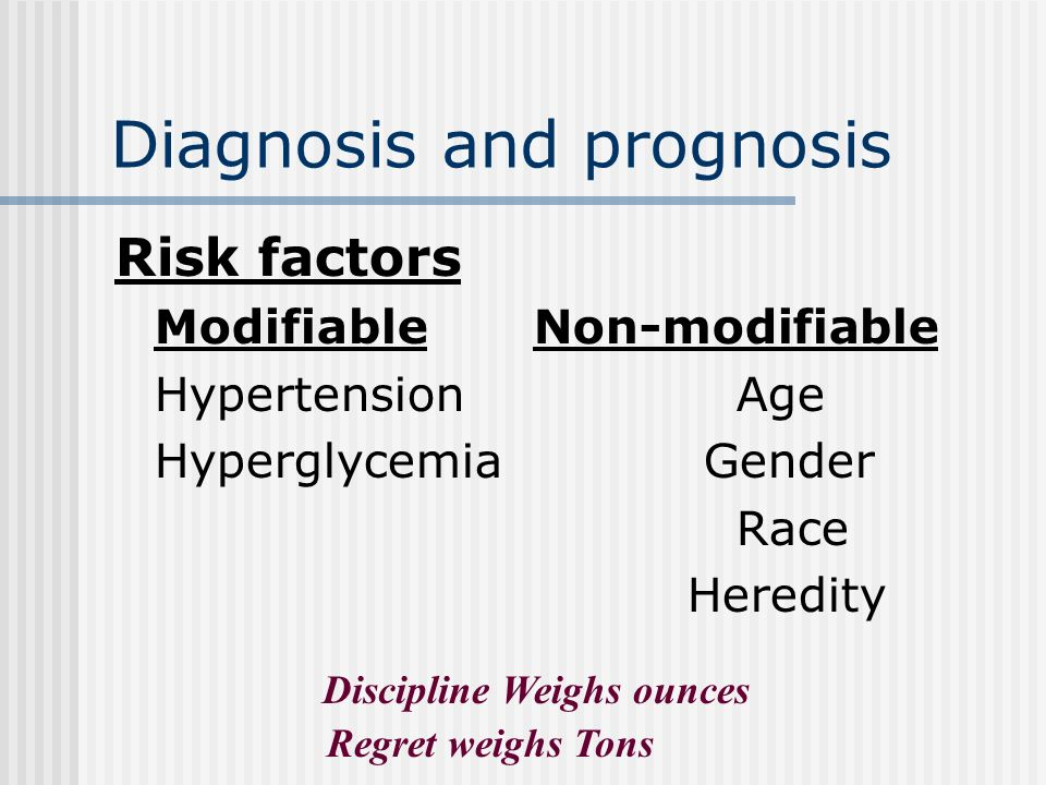 Diagnosis and prognosis