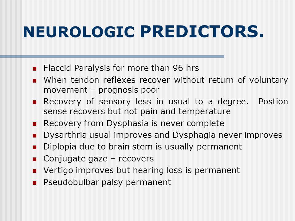 NEUROLOGIC PREDICTORS.