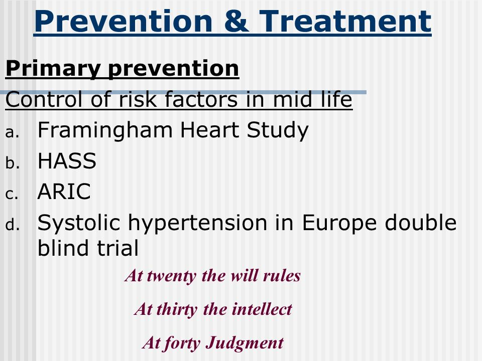 Prevention & Treatment