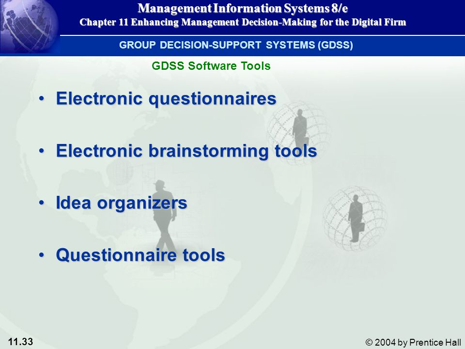 Electronic questionnaires Electronic brainstorming tools