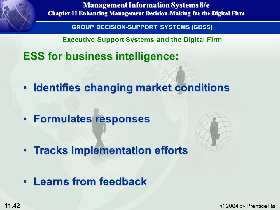 ESS for business intelligence: Identifies changing market conditions