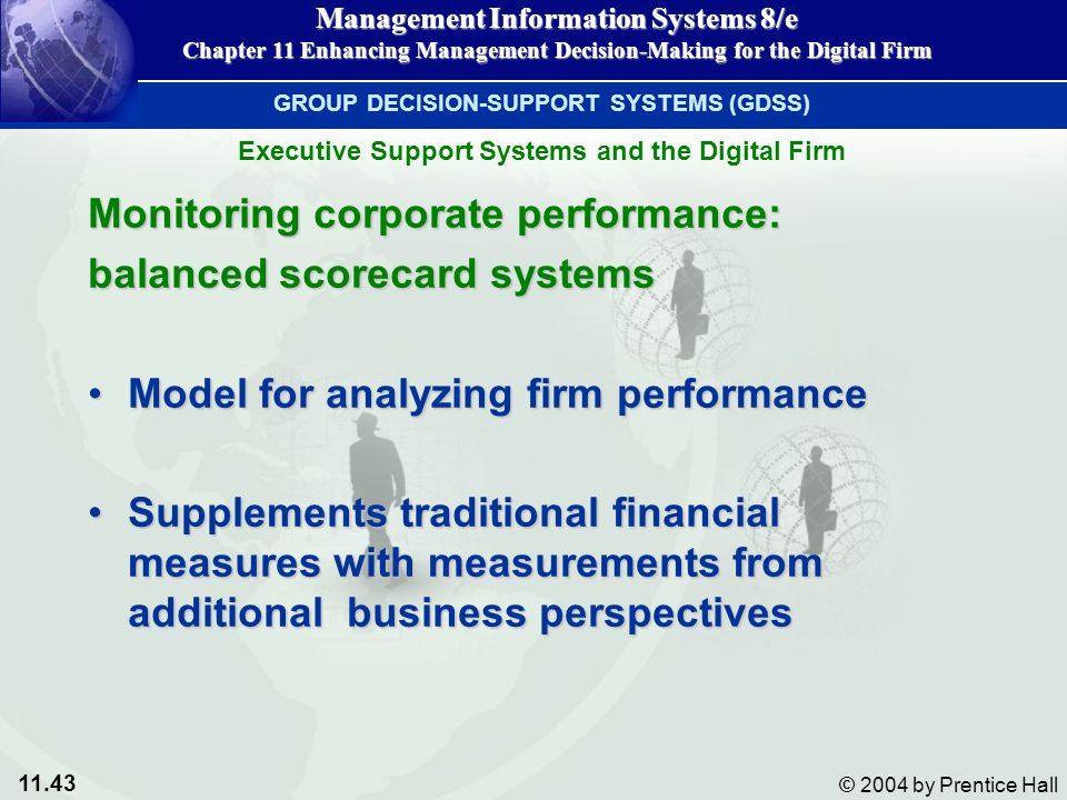 Monitoring corporate performance: balanced scorecard systems