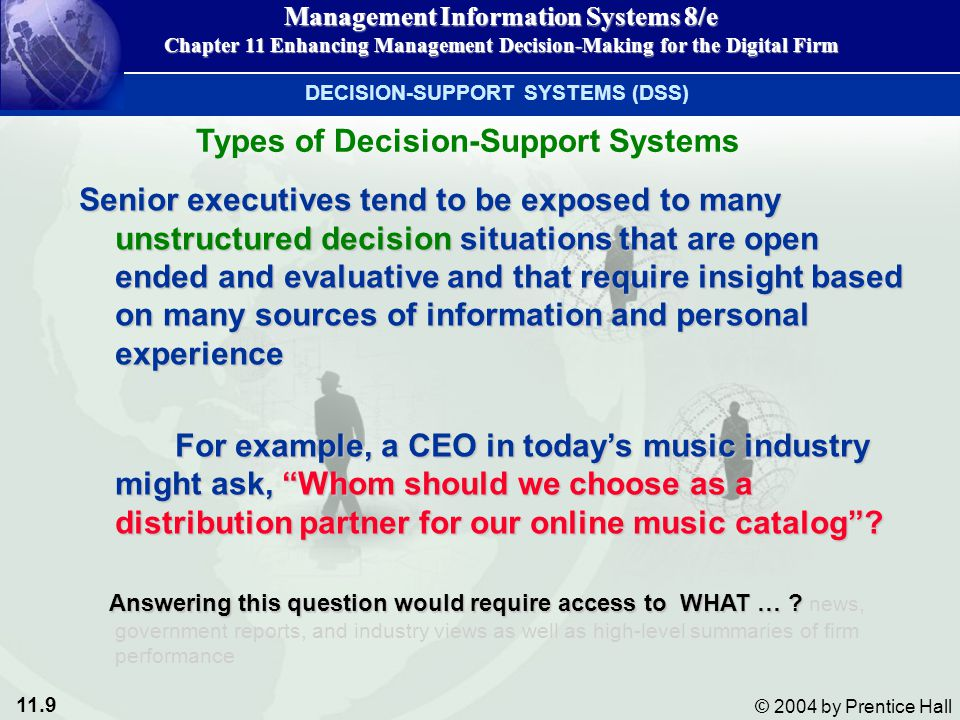 Types of Decision-Support Systems