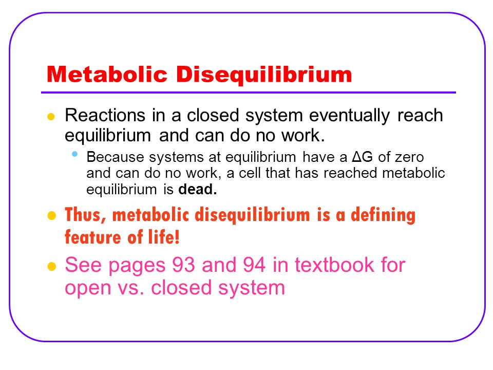 Metabolic Disequilibrium