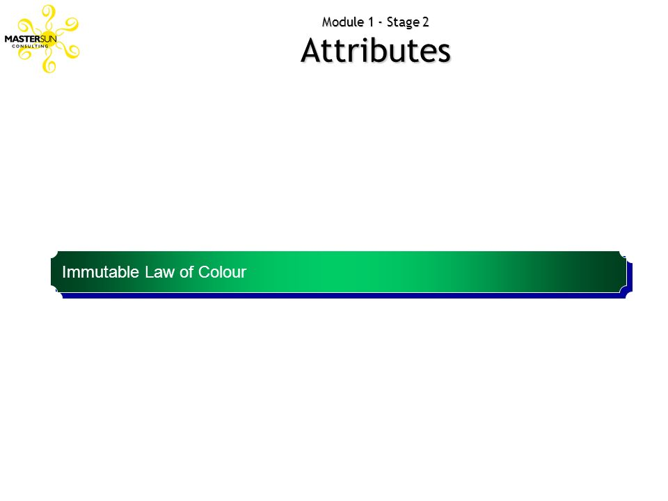 Module 1 - Stage 2 Attributes