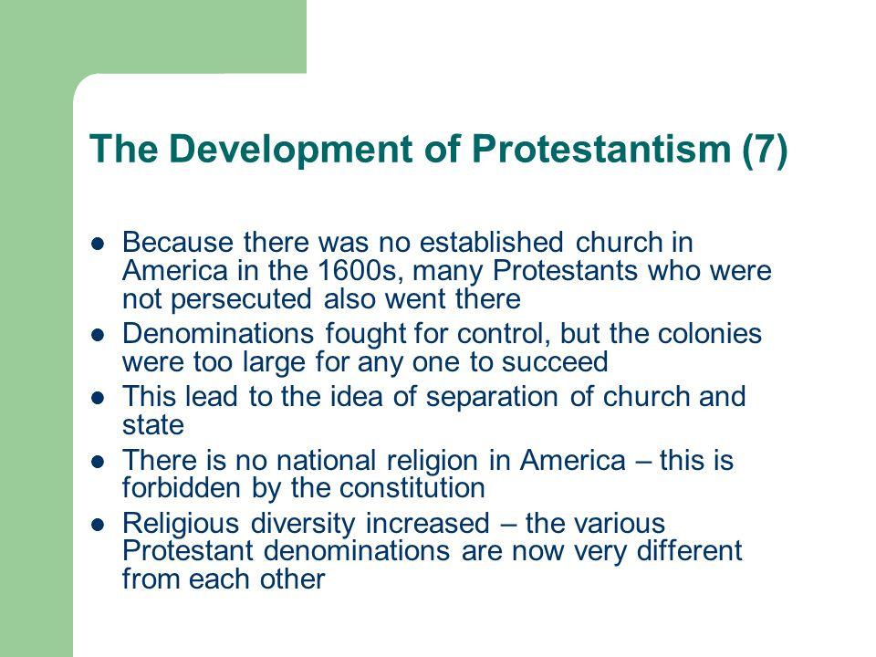 The Development of Protestantism (7)