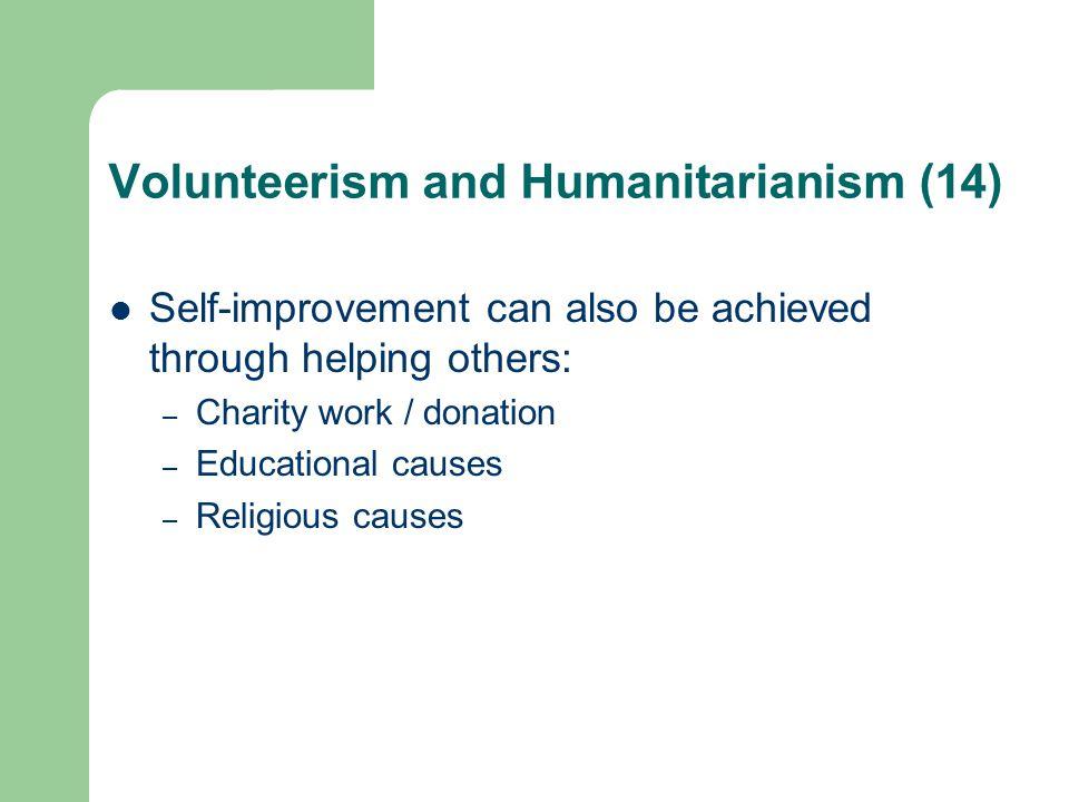 Volunteerism and Humanitarianism (14)