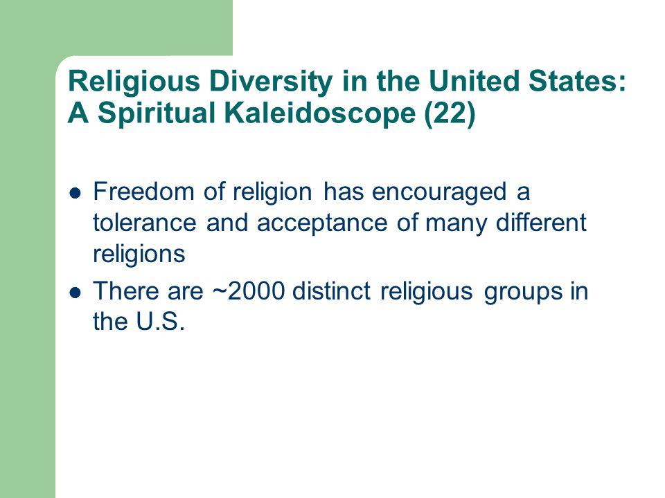 Religious Diversity in the United States: A Spiritual Kaleidoscope (22)