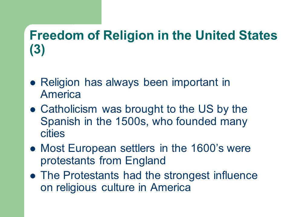 Freedom of Religion in the United States (3)