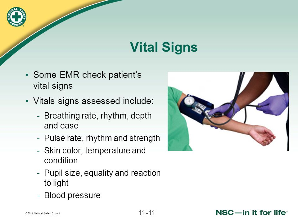 Vital Signs Some EMR check patient's vital signs