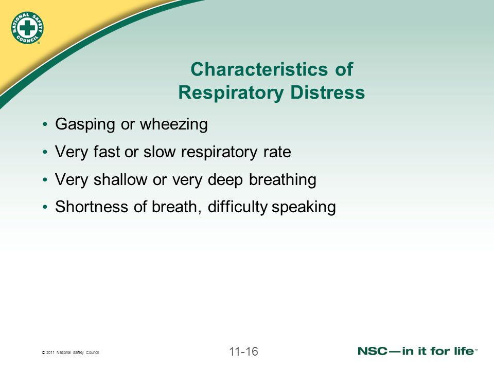 Characteristics of Respiratory Distress