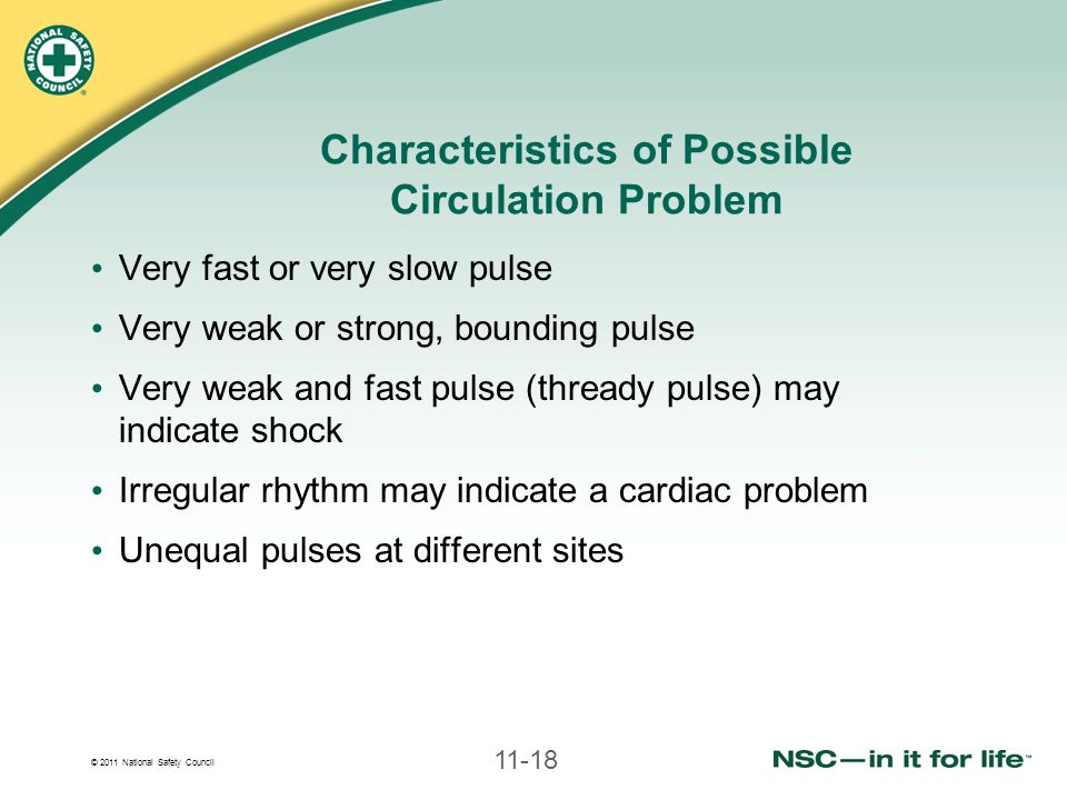Characteristics of Possible Circulation Problem