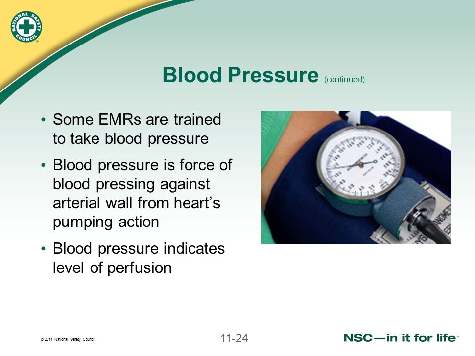 Blood Pressure (continued)