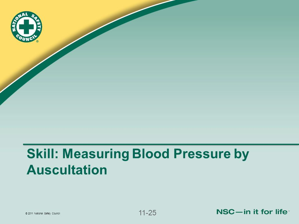 Skill: Measuring Blood Pressure by Auscultation