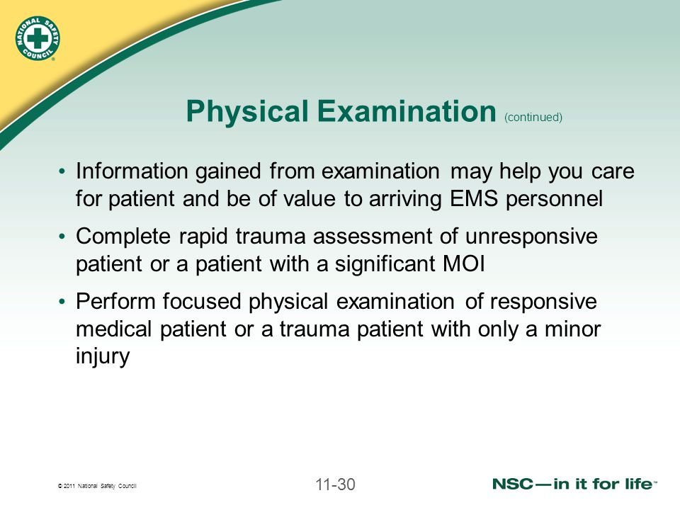 Physical Examination (continued)